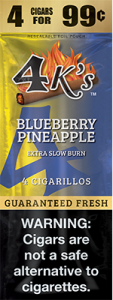 4k Extra Slow Burn Cigarillo Blueberry Pineapple