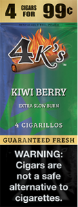 4ks Blended Tobacco Cigarillos Kiwi Berry Flavored