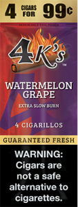 4k Extra Slow Burn Cigarillo Watermelon Grape