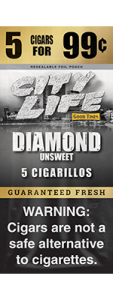 City Life Homogenized Tobacco Cigarillos Diamond