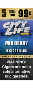 City Life Homogenized Tobacco Cigarillos Mix Berry