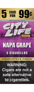 City Life Napa Grape Natural Leaf Cigarillos