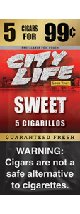 City Life Homogenized Tobacco Cigarillos Sweet