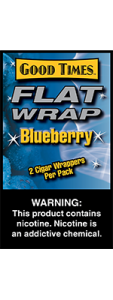 Good Times Flat Wrap Blueberry 2 Cigar Wrappers Pack