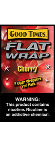 Good Times Flat Wrap Cherry 2 Cigar Wrappers Pack
