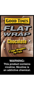 Good Times Flat Wrap Chocolate 2 Cigar Wrappers Pack
