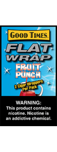 Good Times Flat Wrap Fruit Punch 2 Cigar Wrappers Pack