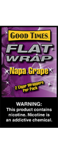 Good Times Flat Wrap Napa Grape 2 Cigar Wrappers Pack
