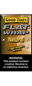 Good Times Flat Wrap Natural 2 Cigar Wrappers Pack