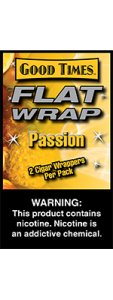 Good Times Flat Wrap Passion 2 Cigar Wrappers Pack