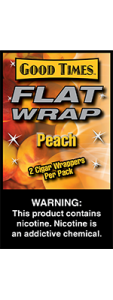 Good Times Flat Wrap Peach 2 Cigar Wrappers Pack