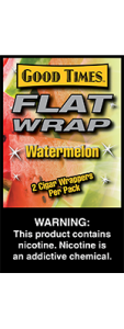 Good Times Flat Wrap Watermelon 2 Cigar Wrappers Pack