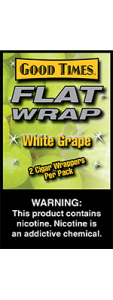 Good Times Flat Wrap White Grape 2 Cigar Wrappers Pack