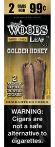 Sweet Woods Natural Leaf Rustic Cigar Golden Honey 2 for 99