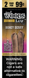 Sweet Woods Natural Leaf Rustic Cigar Honey Berry 2 for 99