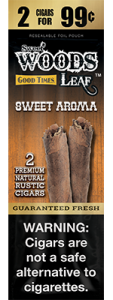 Sweet Woods Natural Leaf Rustic Cigar Sweet Aroma 2 for 99